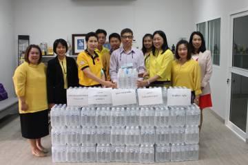 สำนักงานสภามหาวิทยาลัยพะเยาร่วมมอบน้ำดื่มให้กับกองอาคารสถานที่